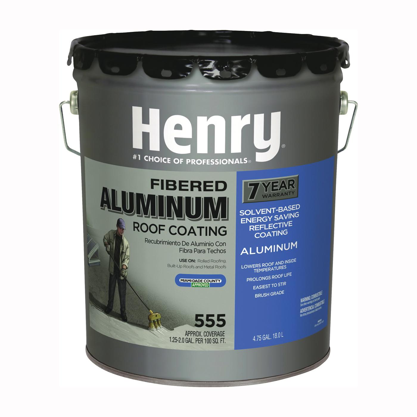 Picture of Henry HE555019 Aluminum Roof Coating, Black, 18 L, Pail, Liquid