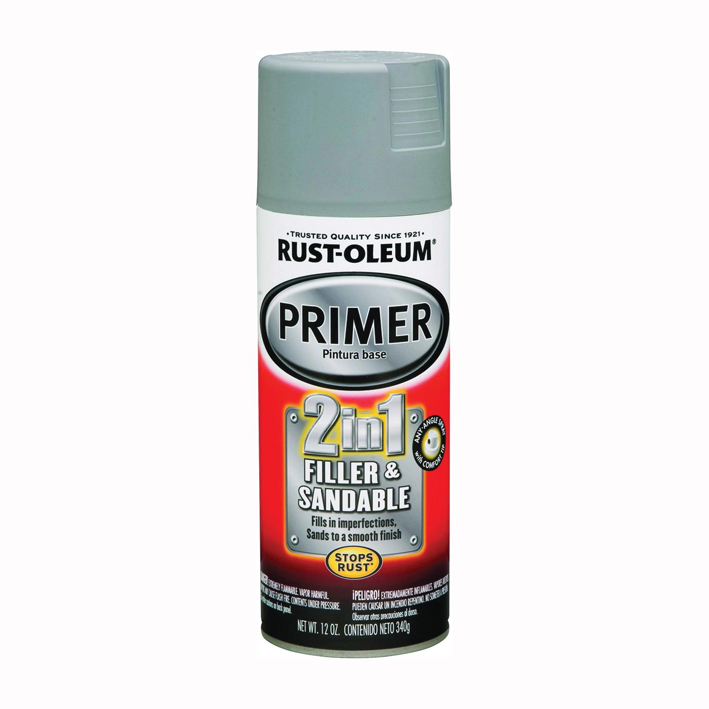 Picture of RUST-OLEUM AUTOMOTIVE 260510 Automotive Primer Spray Paint, Gray, 12 oz, Aerosol Can