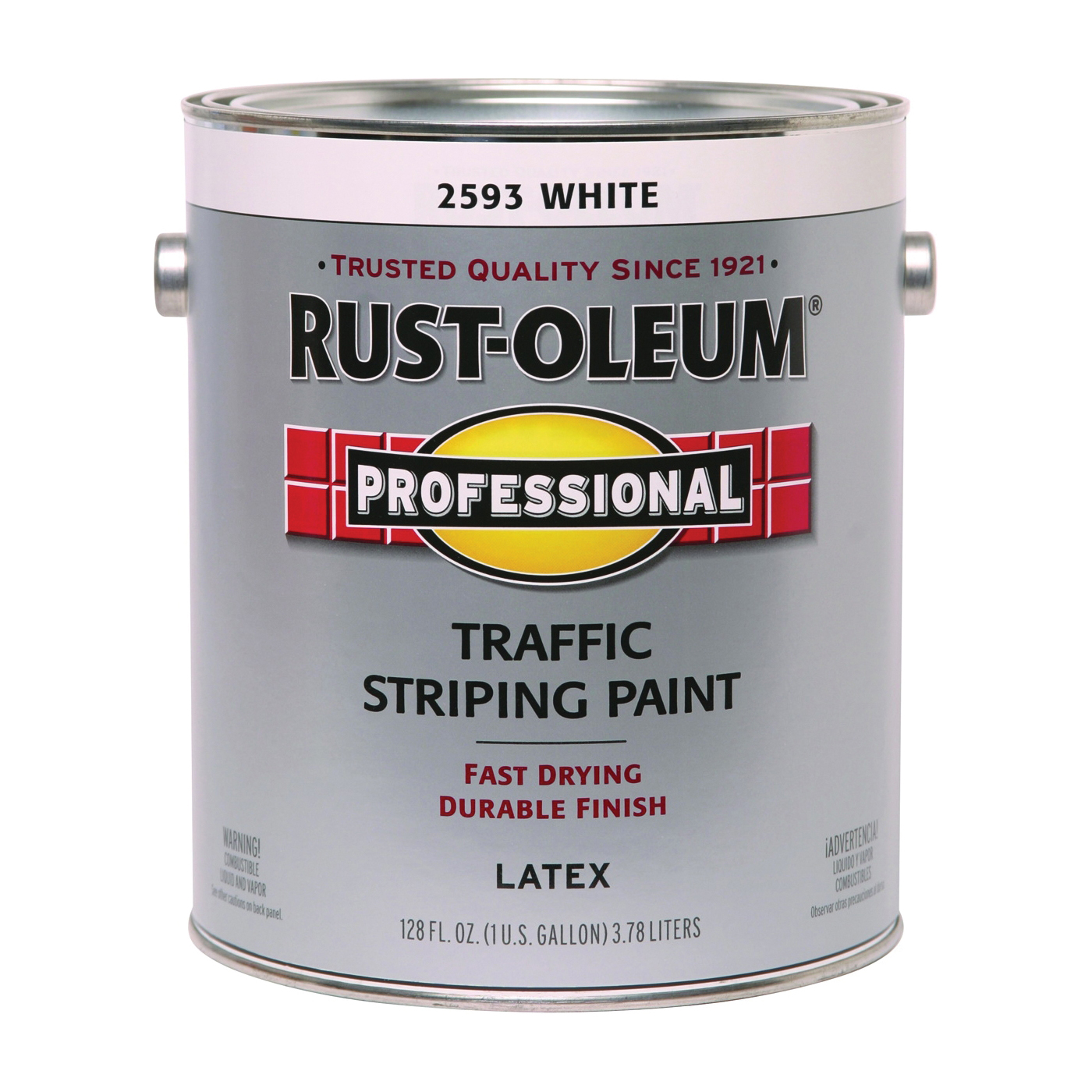 Picture of RUST-OLEUM PROFESSIONAL 2593402 Traffic Striping Paint, Flat, Traffic White, 1 gal, Pail