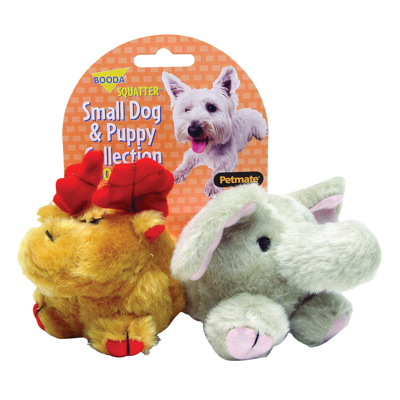 Picture of booda 0353595 Dog and Puppy Squatters, S, Elephant, Moose, Synthetic Fabric, Multi-Color
