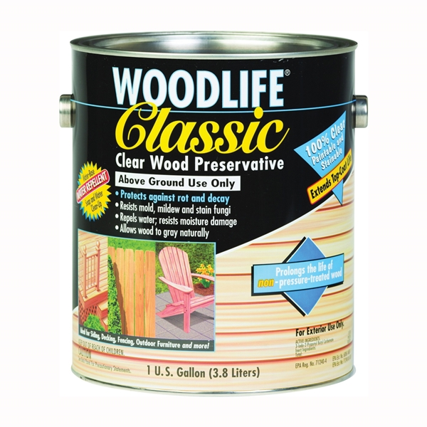 Picture of WOLMAN WoodLide Classic 00903 Wood Preservative, Clear, Liquid, 1 gal, Can
