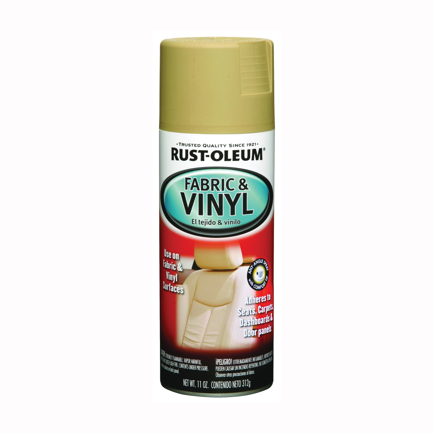 Picture of RUST-OLEUM AUTOMOTIVE 248921 Fabric and Vinyl Spray Paint, Flat, Sand, 11 oz, Aerosol Can