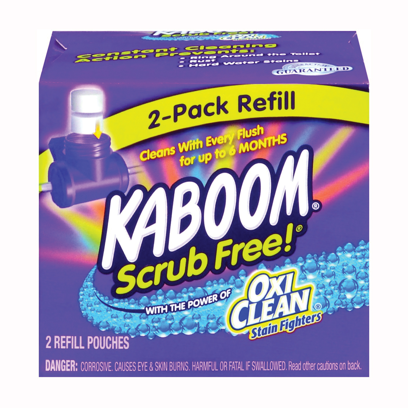 Picture of KABOOM 35133 Toilet Cleaning System Refill, Granular, Chlorine, White