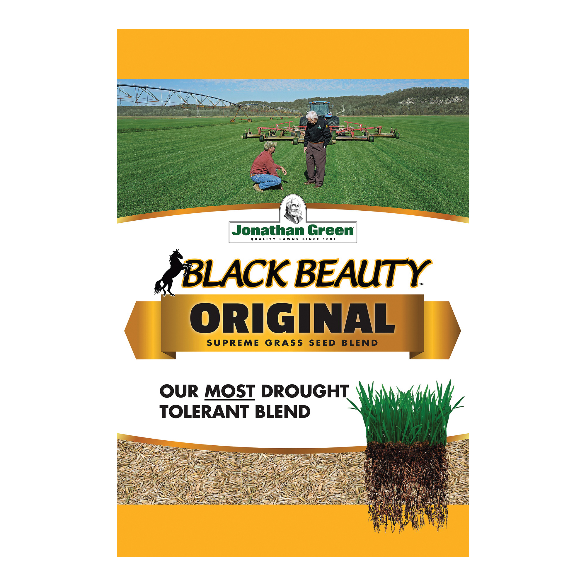 Picture of Jonathan Green Black Beauty 10315 Grass Seed, 25 lb Package, Bag