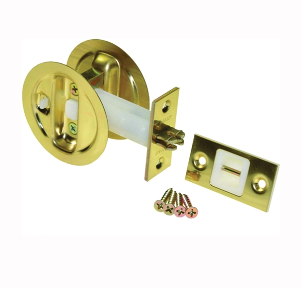 Picture of Johnson Hardware 15213PK1 Privacy Lock, US3 Brass, 2-3/8 in Backset