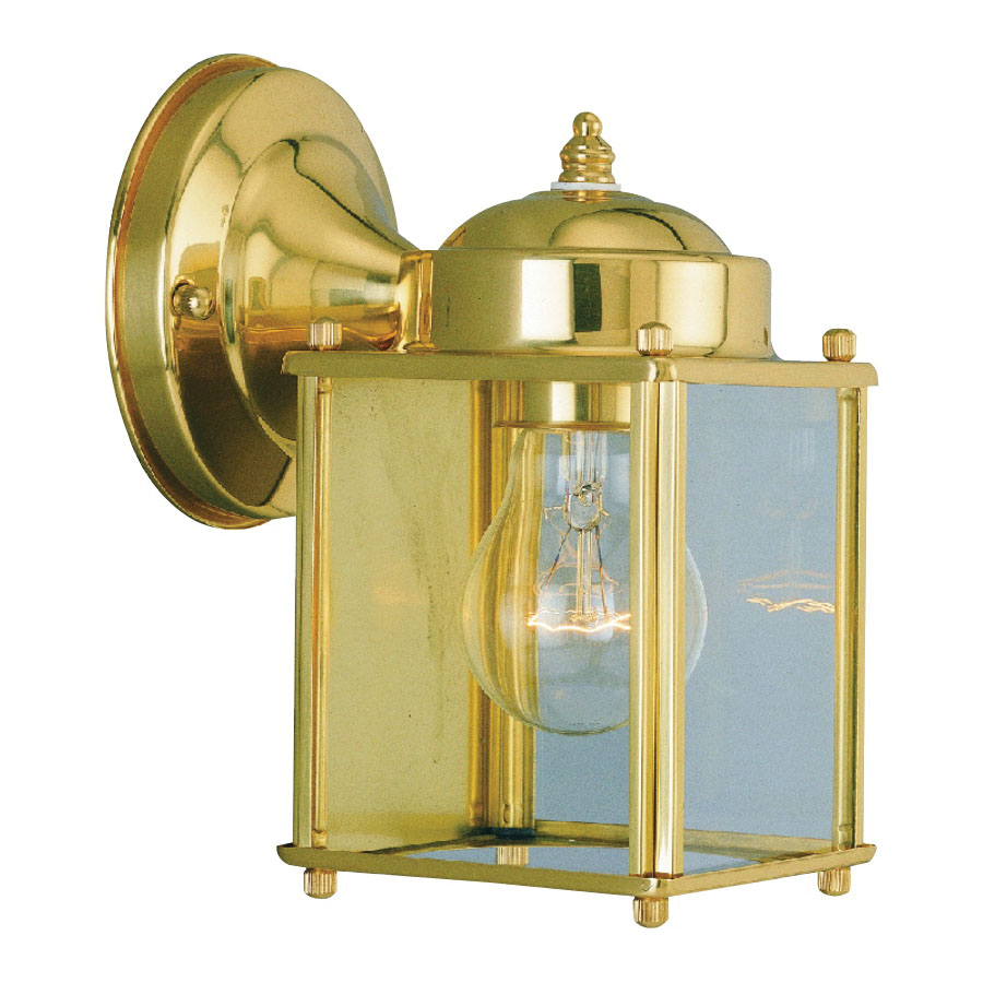 Picture of Boston Harbor 4000NH-2-3L Porch Light Fixture, CFL Lamp, Brass Fixture