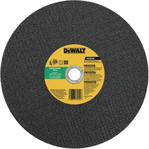 Picture of DeWALT DW8025 Cutting Wheel, 14 in Dia, 1/8 in Thick, 20 in Arbor, 24 Grit, Silicone Carbide Abrasive