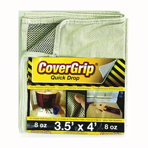 Picture of CoverGrip 35408 Drop Cloth, 4 ft L, 3-1/2 ft W, Rubber