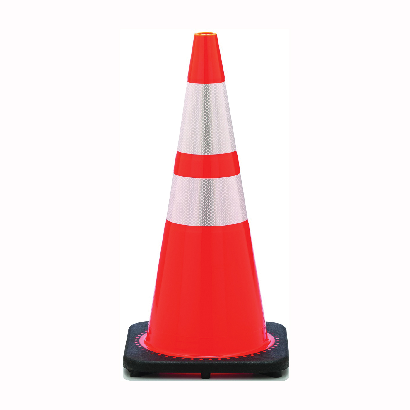 Picture of JBC Revolution RS RS70032CT3M64 Traffic Safety Cone, 28 in H Cone, PVC Cone, Fluorescent Orange Cone