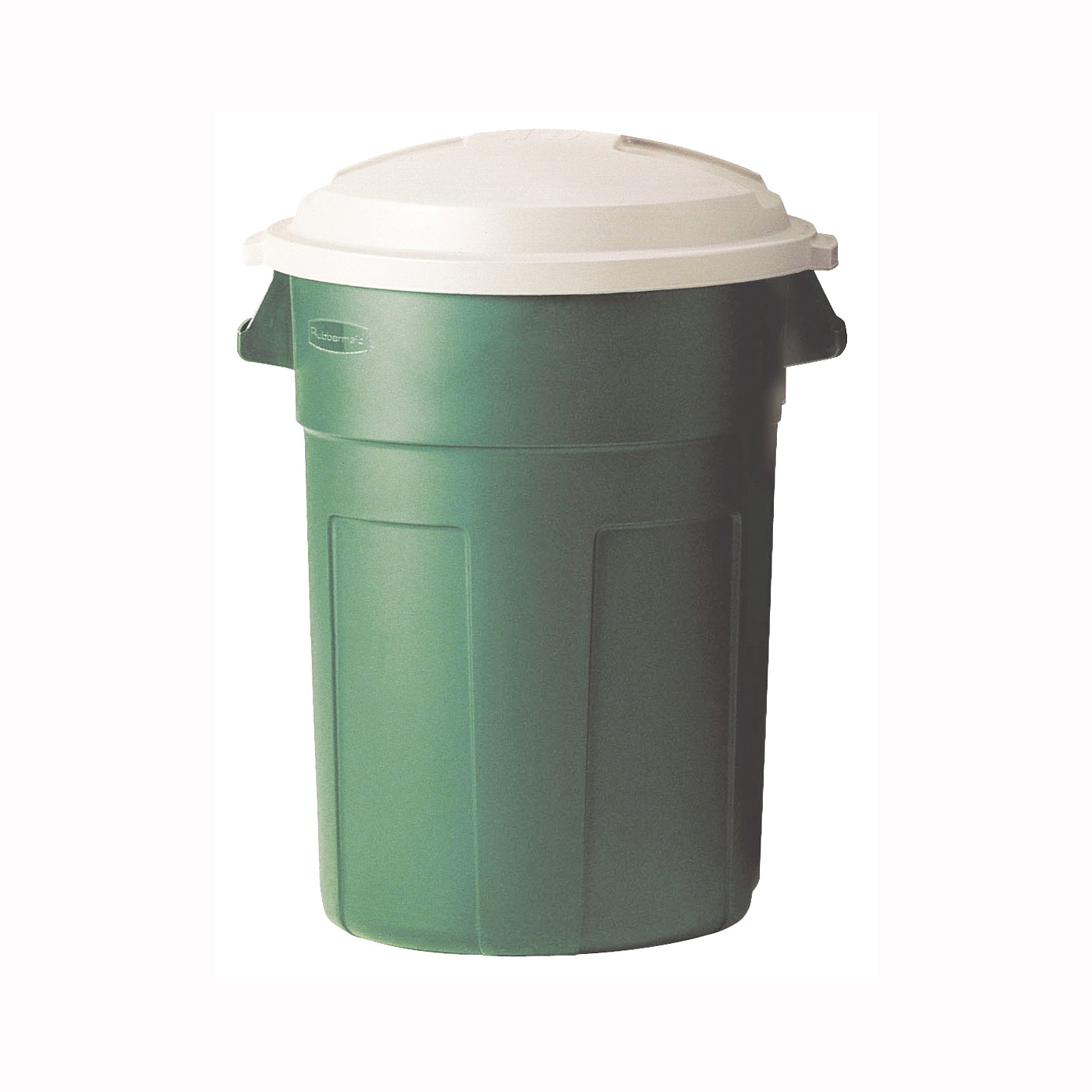 Picture of Rubbermaid 289487EGRN Trash Can, 32 gal Capacity, Evergreen, Snap-Fit Lid Closure