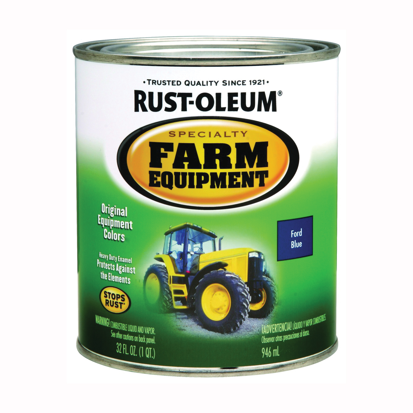 Picture of RUST-OLEUM 7424502 Farm Equipment Brush-On Enamel Paint, Ford Blue, 1 qt, Can