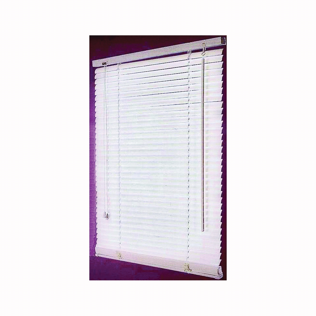 Picture of Simple Spaces FWB-27X64 Window Blinds, 64 in L, 27 in W, Faux Wood, White