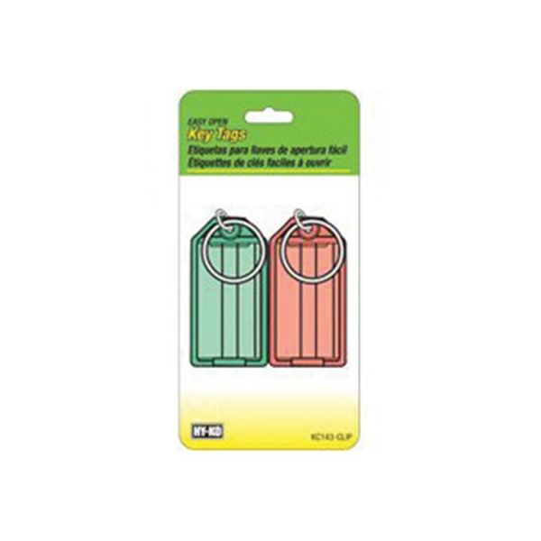 Picture of HY-KO KC143-CLIP Key Tag, Plastic