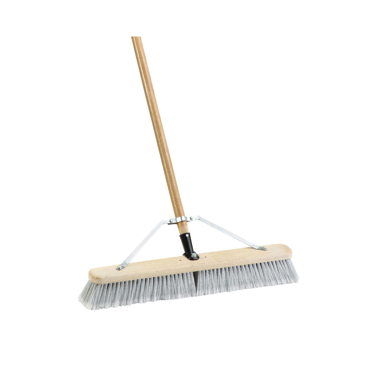 Picture of Simple Spaces 93150 Push Broom, 3 in L Trim, Fine Flagged Synthetic Bristle, Hardwood Handle