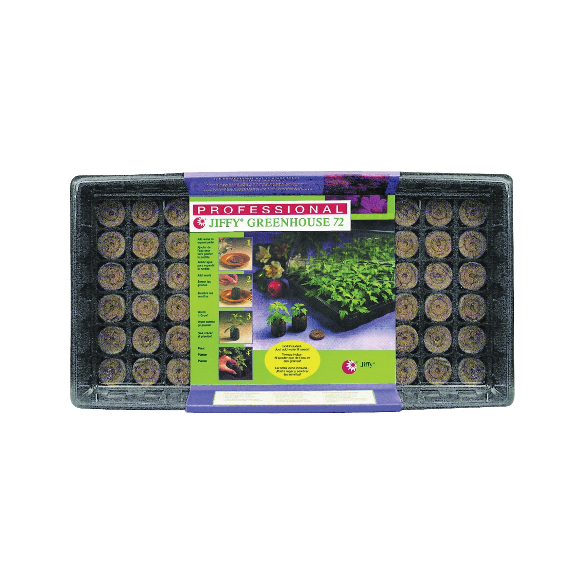 Picture of Jiffy J372 Seed Starting Kit, Sphagnum Peat Moss, Black