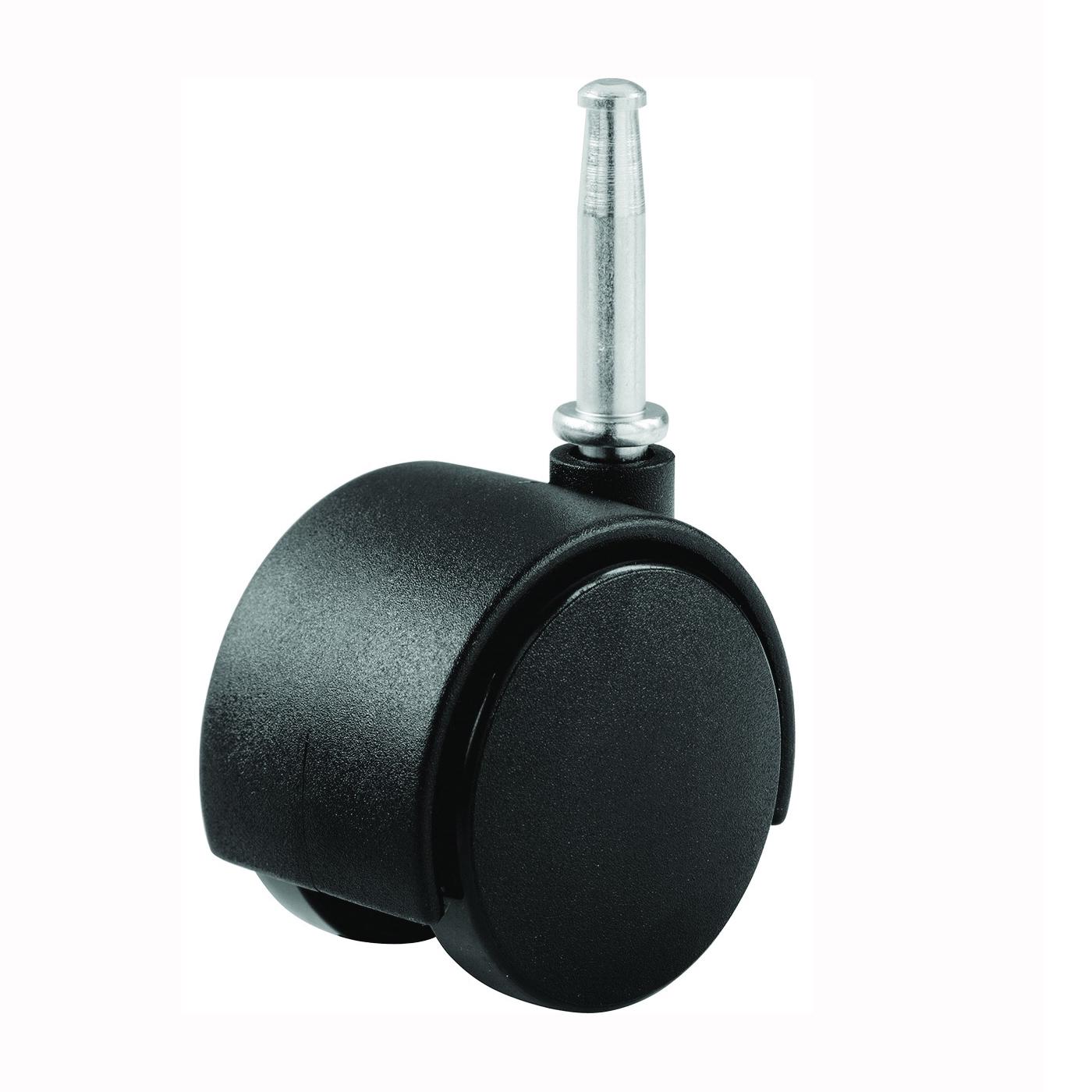 Picture of Shepherd Hardware 9402 Swivel Caster, 1-5/8 in Dia Wheel, Nylon Wheel, Black, 40 lb
