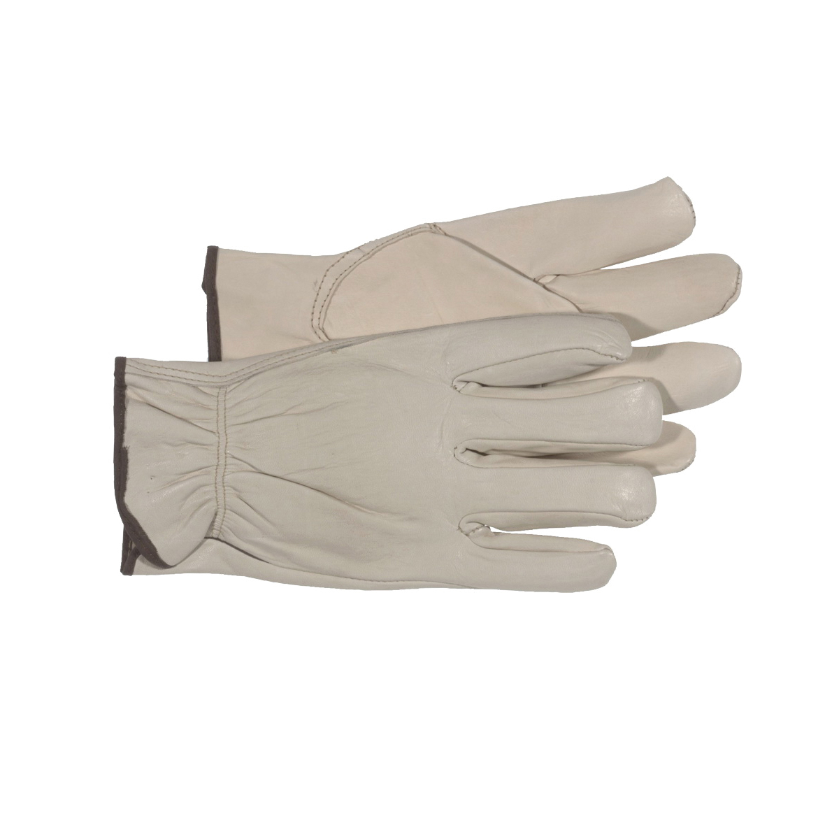 Picture of BOSS 40672X Driver Gloves, Men's, 2XL, Keystone Thumb, Open, Shirred Elastic Back Cuff, Cowhide Leather, Natural
