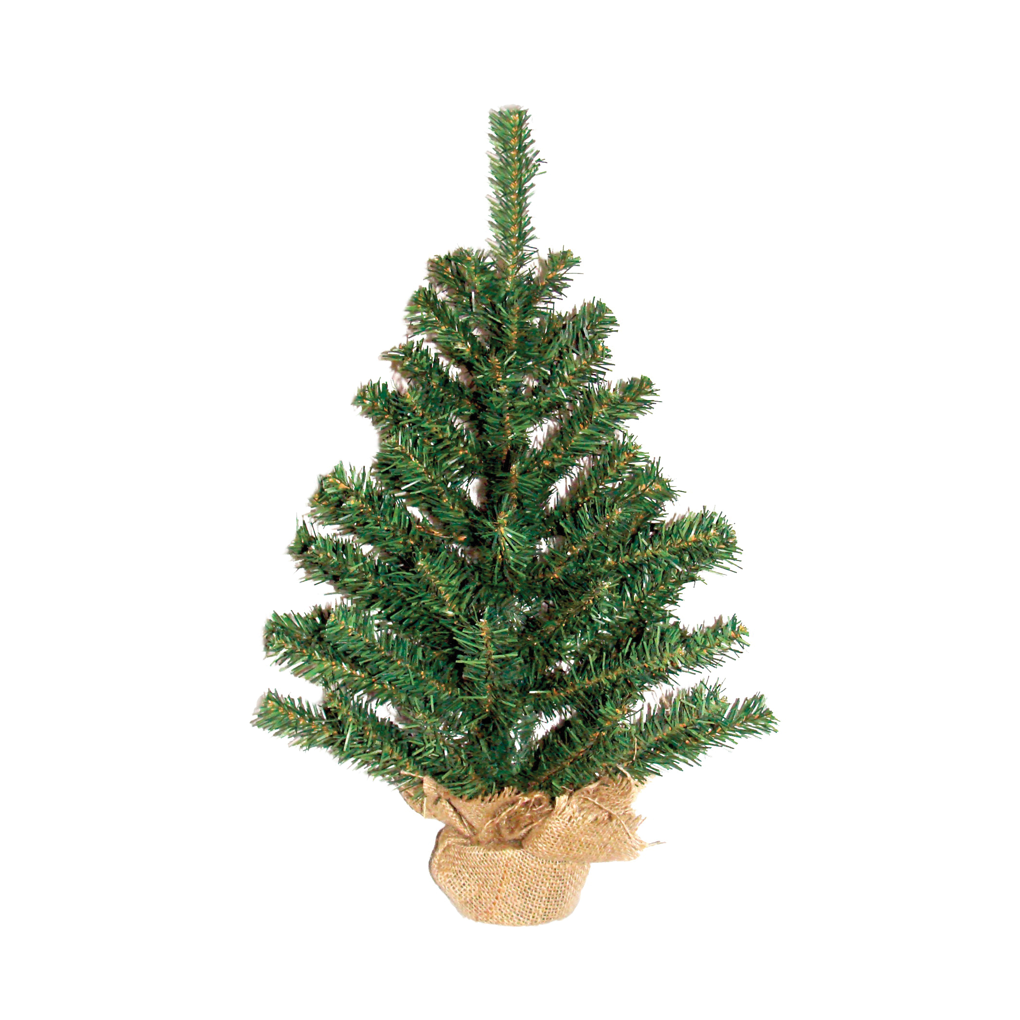 Picture of Santas Forest 11124 Ball and Burlap Tree, 24 in H, Tree, Fir Family, PVC & Burlap, Indoor/Outdoor
