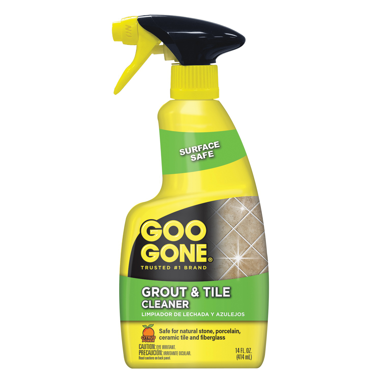 Picture of Goo Gone 2052 Grout and Tile Cleaner, 14 oz Package, Bottle, Liquid, Citrus, Clear