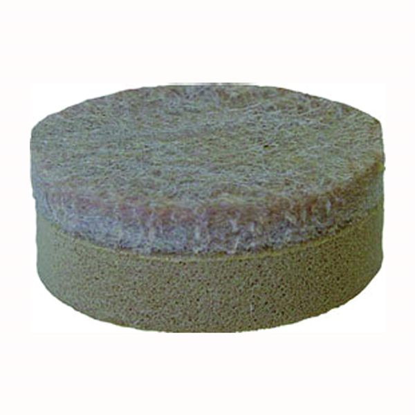 Picture of Shepherd Hardware 9916 Furniture Pad, Felt Cloth, Beige, 1-1/2 in Dia, Round