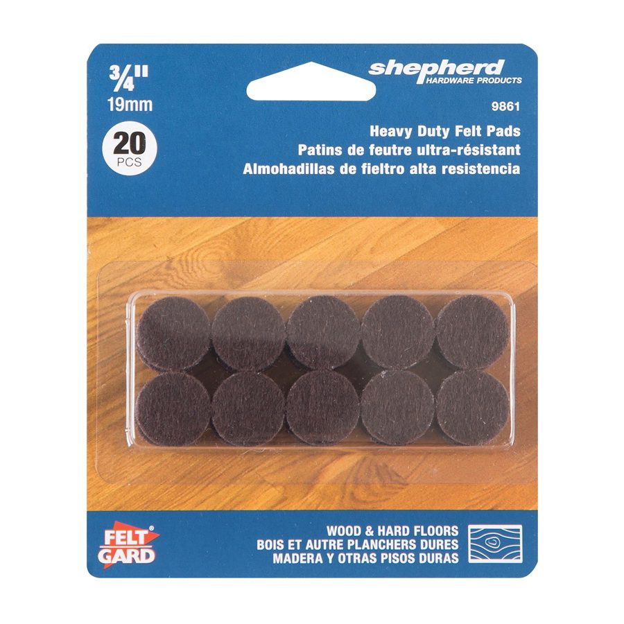 Picture of Shepherd Hardware 9861 Felt Pad, Dark Brown, 3/4 in Dia, Round