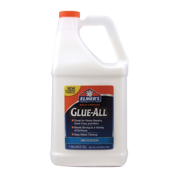 Picture of Elmers E3860 Glue, White, 1 gal Package, Bottle
