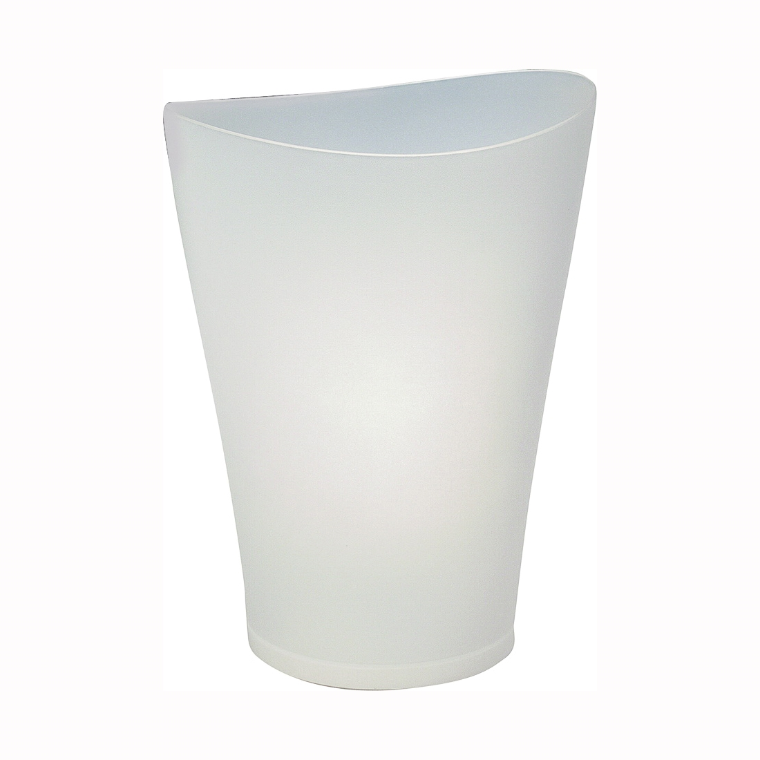 Picture of Rubbermaid SpaWorks FG290200CLR Vanity Waste Basket, 9 qt Capacity, Plastic, Clear, 10 in W, 7 in D, 13 in H