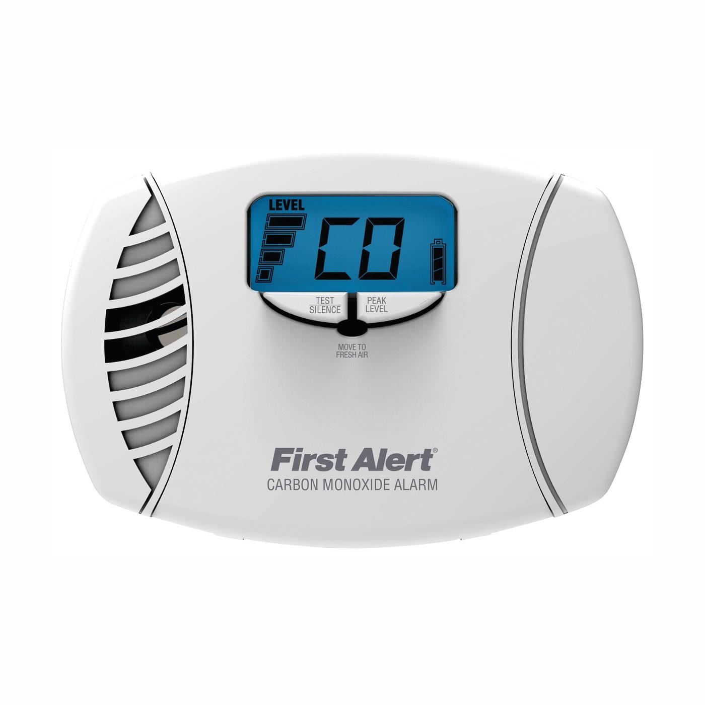 Picture of FIRST ALERT CO615 Carbon Monoxide Alarm, 10 ft, Digital Display, 85 dB, Alarm: Audible, Electrochemical Sensor