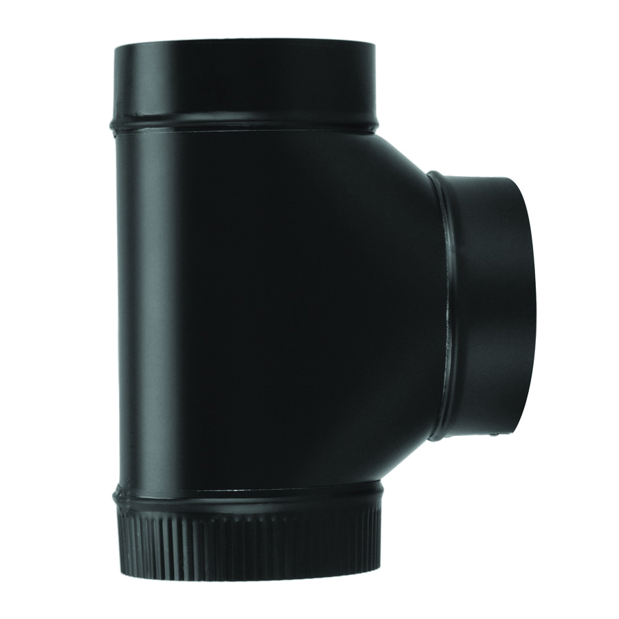 Picture of Imperial BM0083 Assembled Tee, 6 in, 24 ga Thick Wall, Steel, Black, Matte