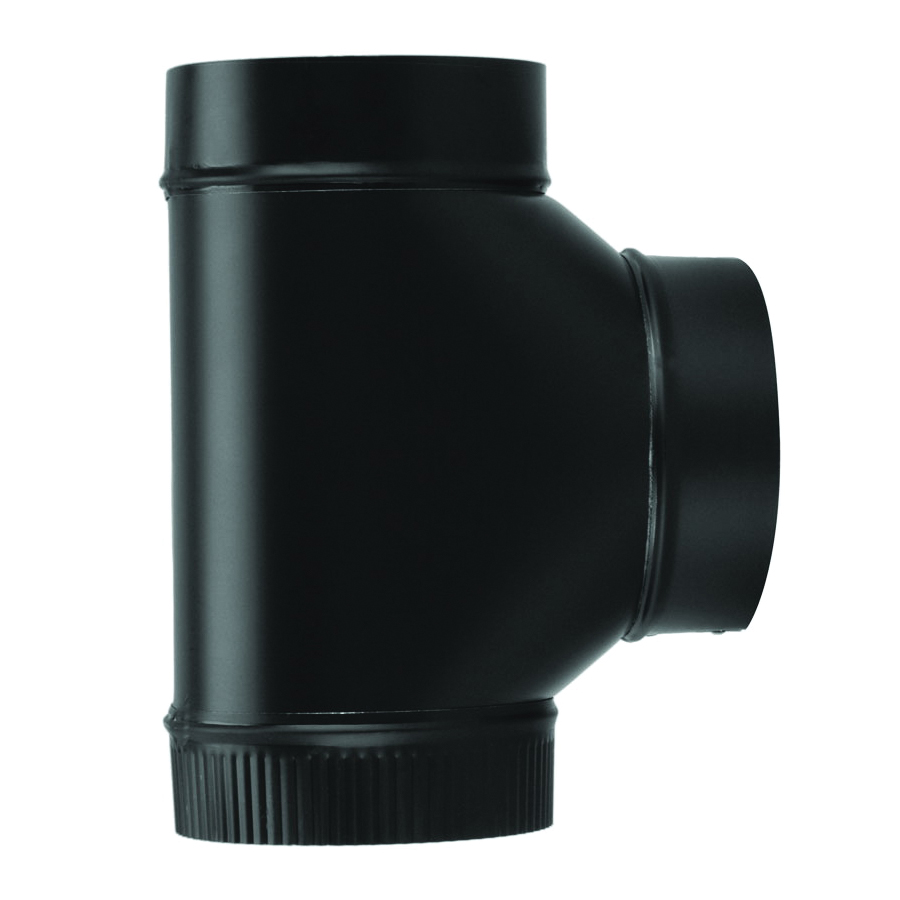 Picture of Imperial BM0085 Assembled Tee, 8 in, 24 ga Thick Wall, Steel, Black, Matte