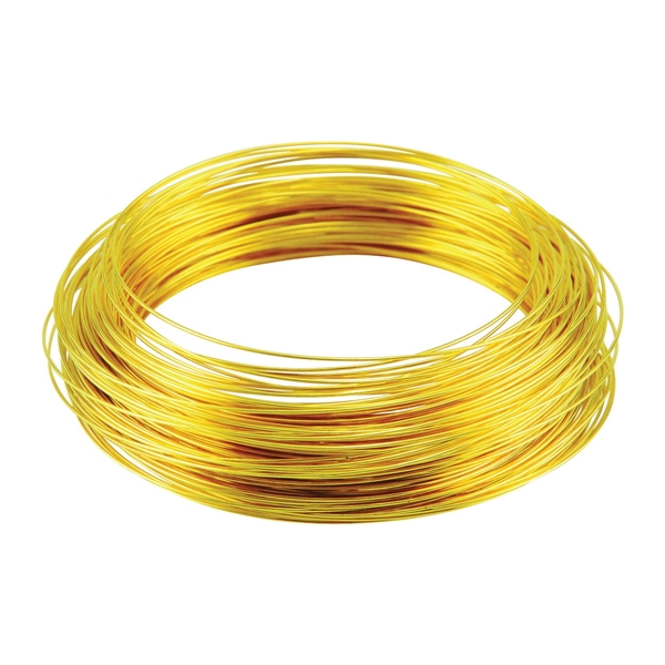 Picture of HILLMAN 50153 Utility Wire, 100 ft L, 24 Gauge, Brass
