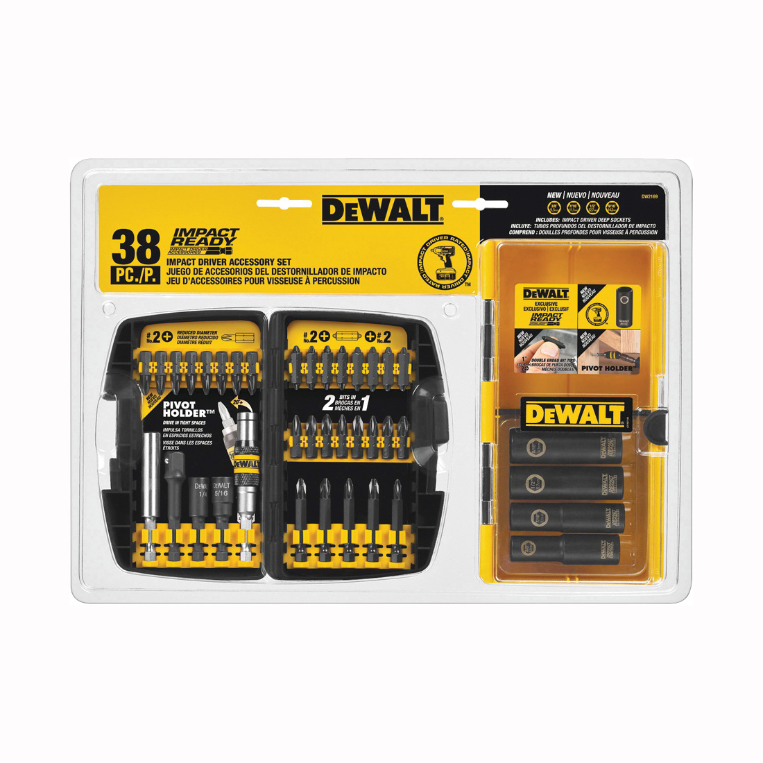 Picture of DeWALT DW2169 Accessory Kit, 38 -Piece, Steel