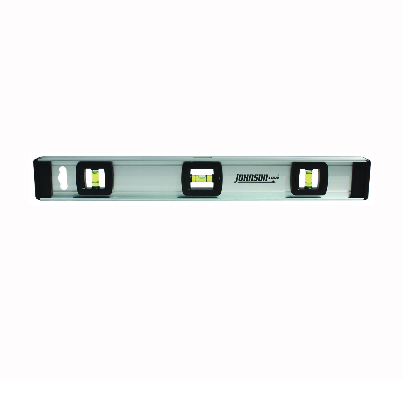 Picture of Johnson 1300-1800 I-Beam Level with Rule, 18 in L, 3 -Vial, Non-Magnetic, Aluminum, Silver