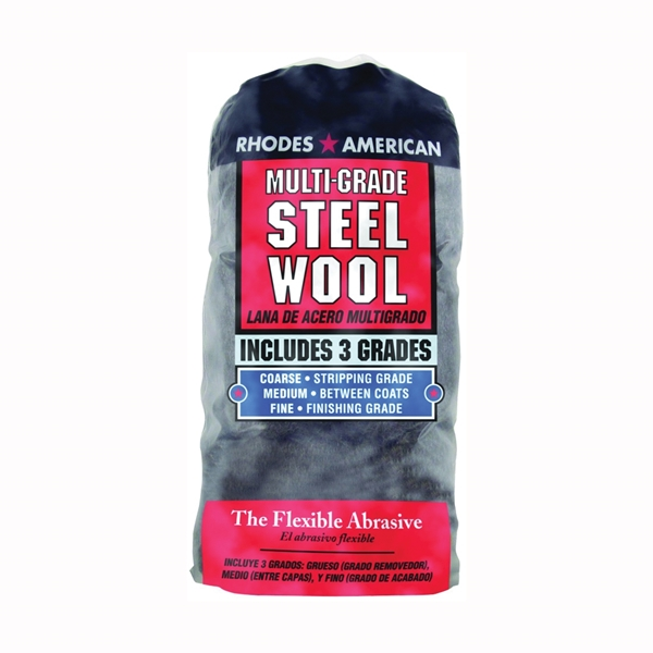 Picture of Homax 1021114 Steel Wool Pad, #0, #000, #3 Grit, Extra Fine/Fine/Medium