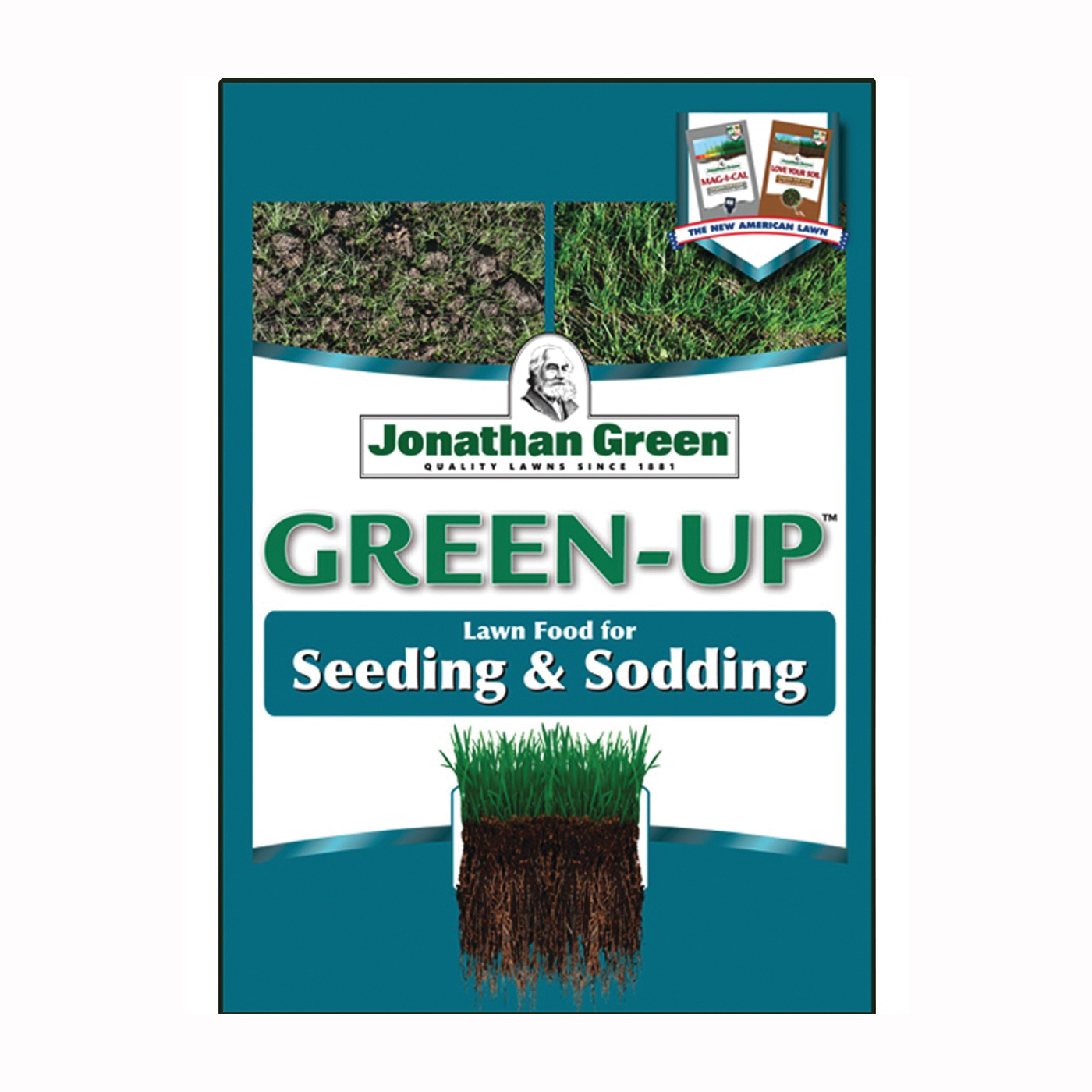 Picture of Jonathan Green Green-Up 11540 Seeding Lawn Fertilizer, Granular, 4.5 lb Package