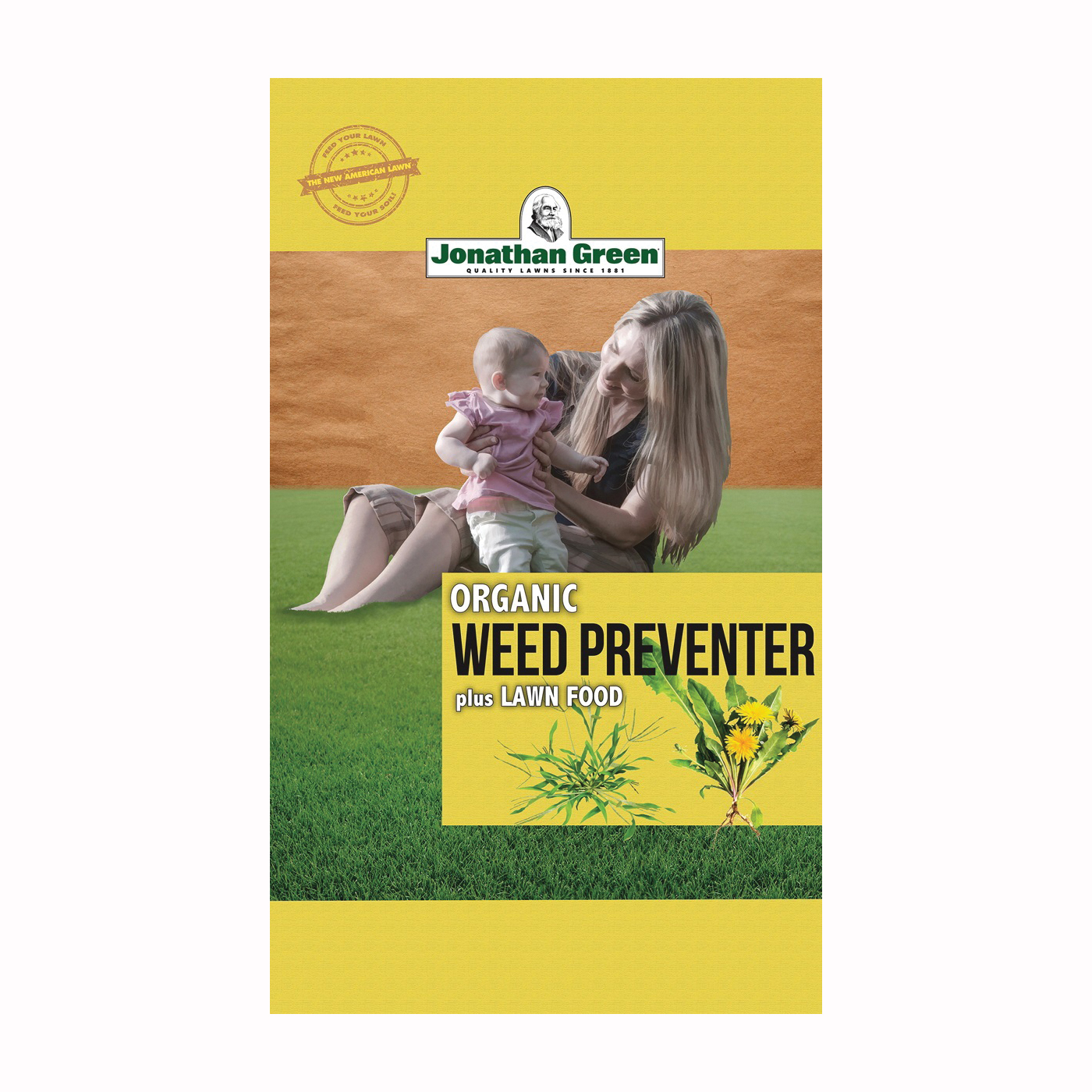 Picture of Jonathan Green 11588 Organic Weed Preventer and Lawn Fertilizer, Granular, 15 lb Package