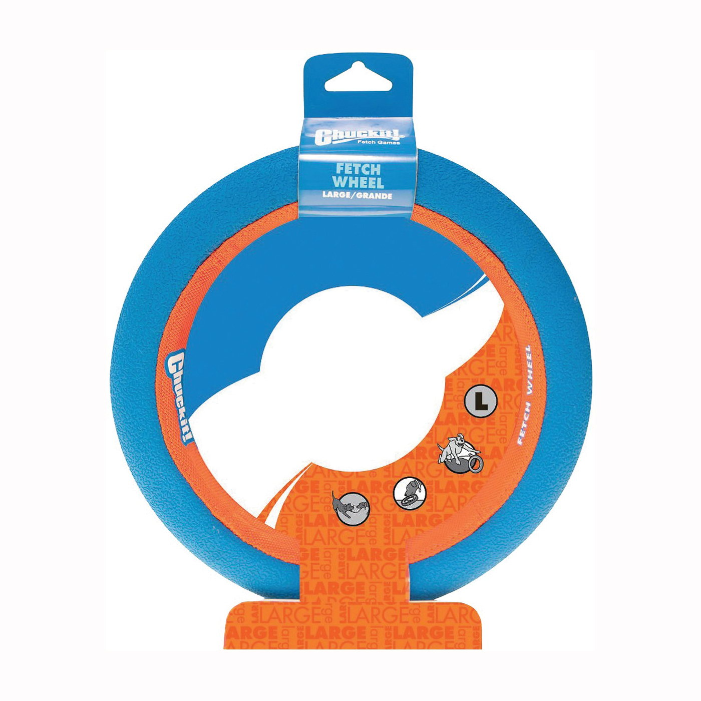 Picture of Chuckit! 252301 Dog Toy, L, Rubber, Blue/Orange