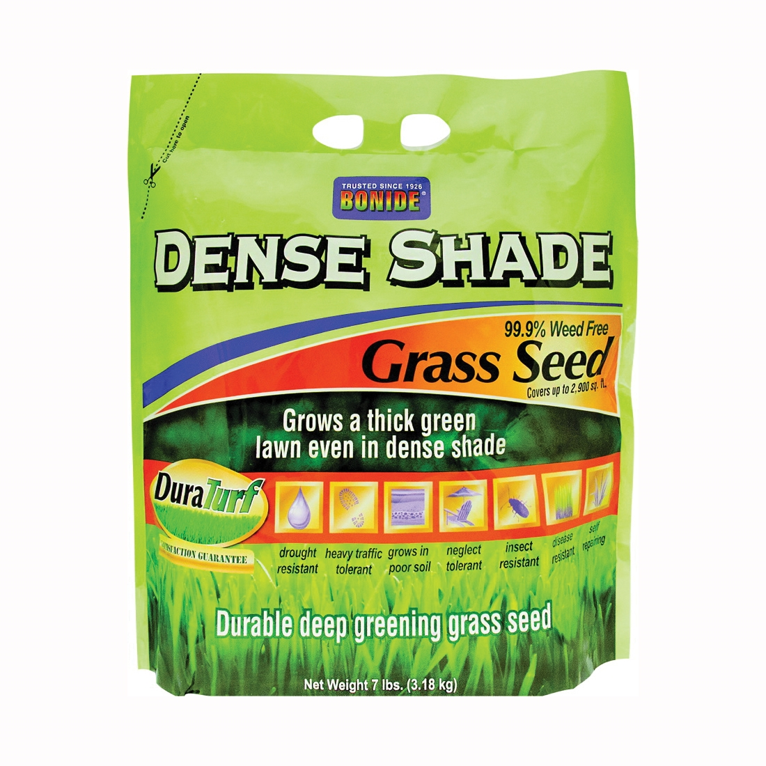 Picture of Bonide 60215 Dense Shade Grass Seed, 7 lb Package, Bag