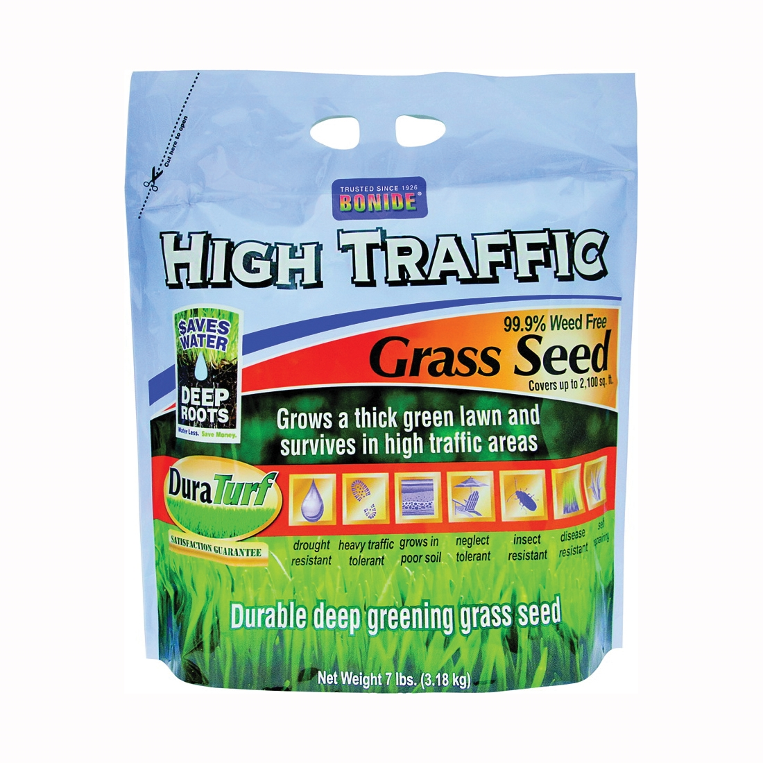 Picture of Bonide 60285 High Traffic Grass Seed, 7 lb Package, Bag