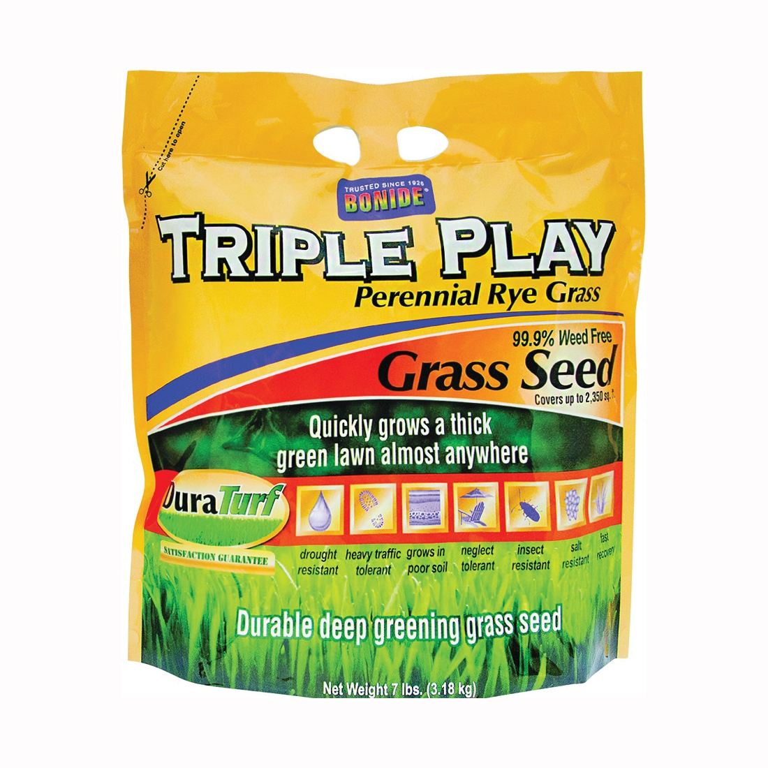 Picture of Bonide 60275 Triple Play Grass Seed, 7 lb Package, Bag
