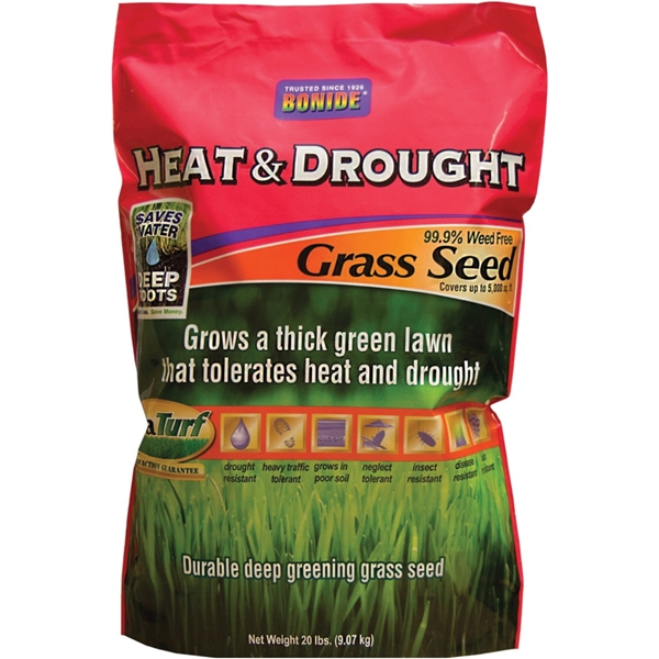 Picture of DuraTurf 60257 Heat and Drought Grass Seed, 20 lb Package, Bag