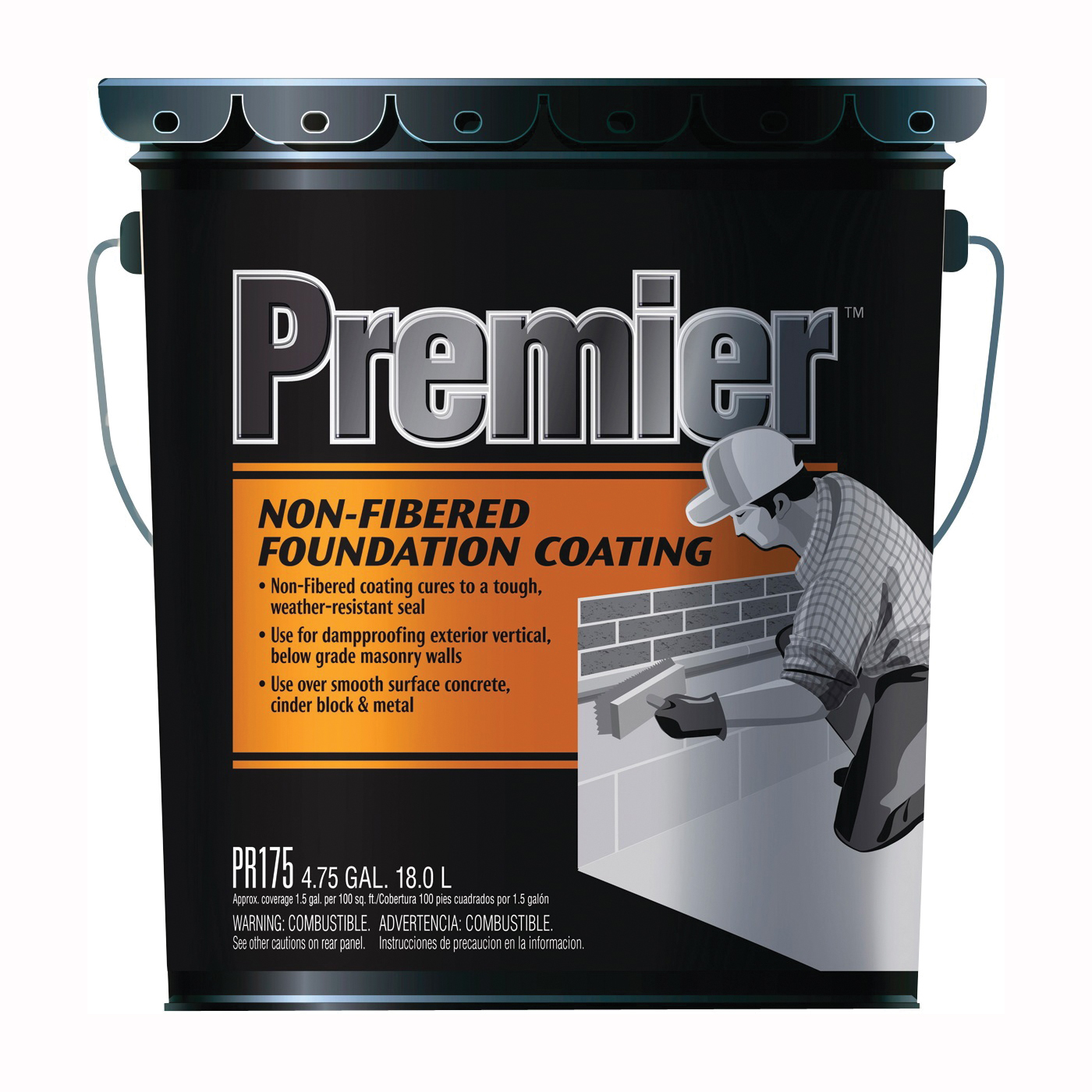 Picture of Henry PR175070 Foundation Coating, Black, Liquid, 5 gal Package, Pail