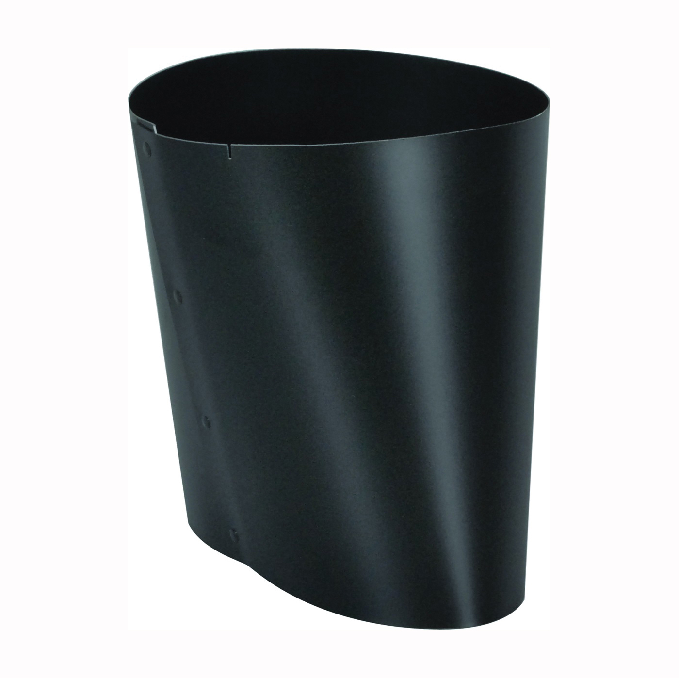 Picture of Imperial BM0039 Stove Pipe Boot, 7 x 6 in, Crimp, 24 ga Thick Wall, Black, Matte