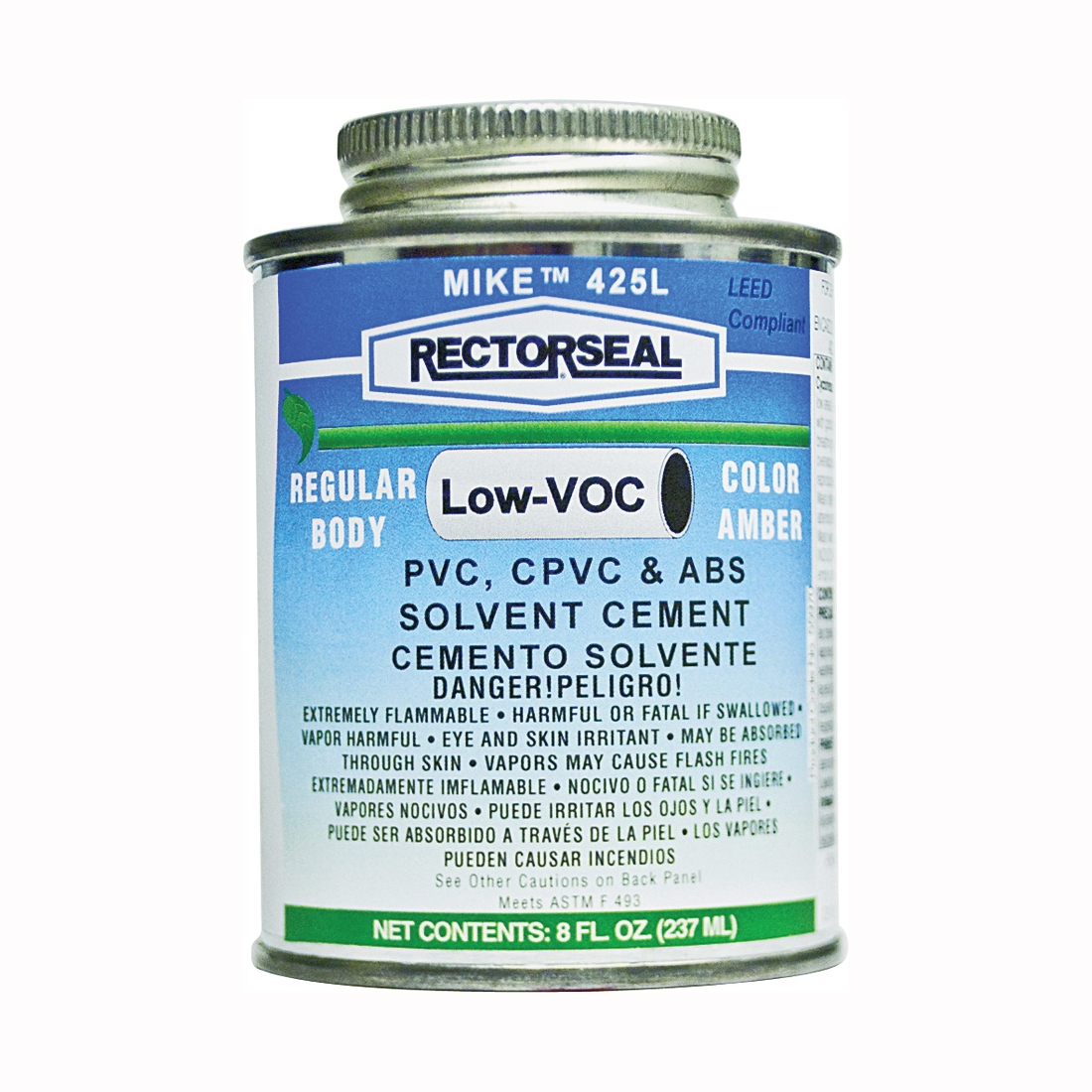 Picture of RECTORSEAL 55970 Solvent Cement, 0.5 pt, Can, Liquid, Amber