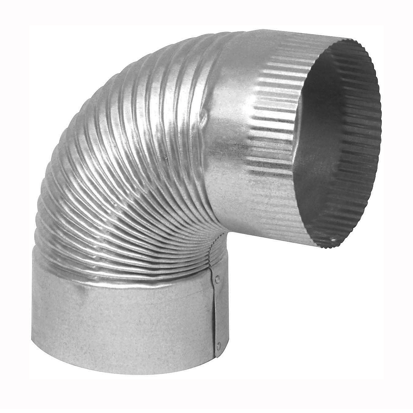 Picture of Imperial GV0328 Stove Pipe Elbow, 7 in Connection, 28 Gauge, Galvanized