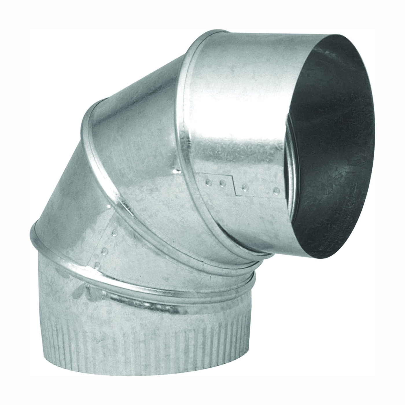 Picture of Imperial GV0281-C Stove Pipe Elbow, 3 in Connection, 28 Gauge, Galvanized Steel