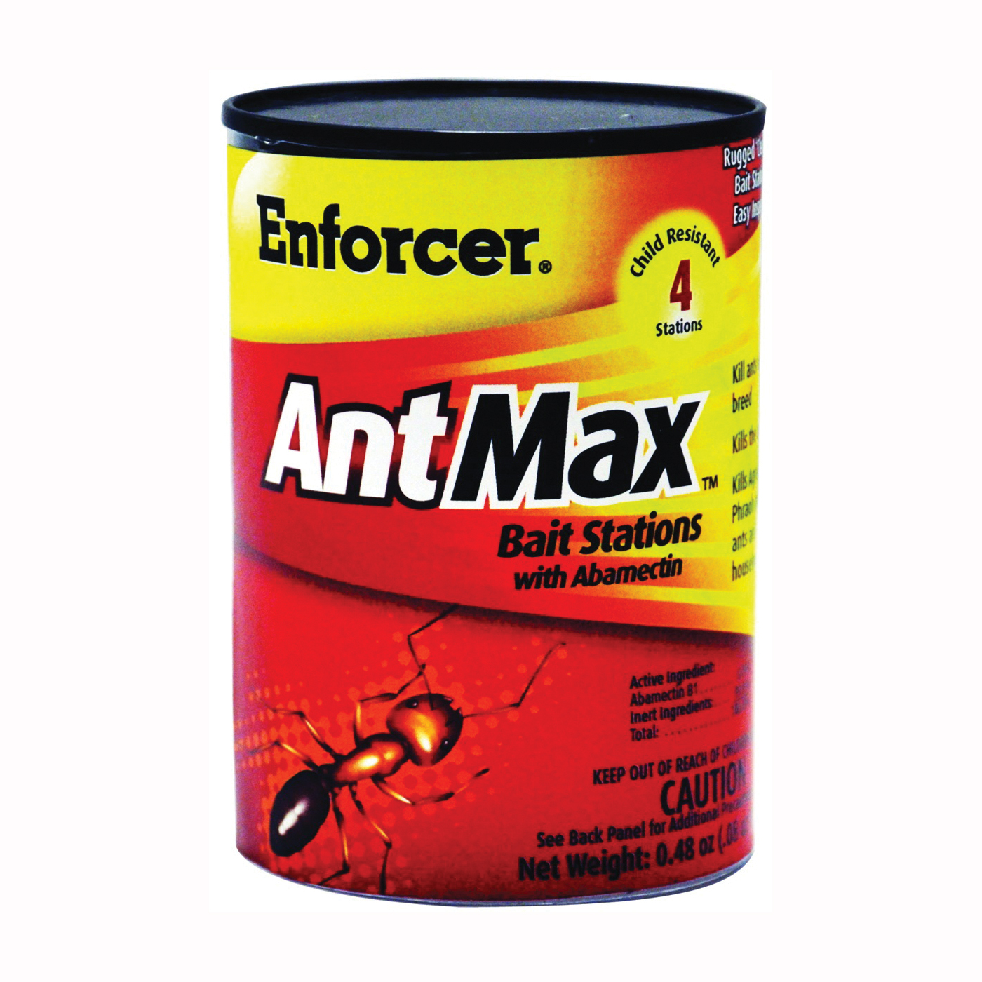Picture of Enforcer AntMax EAMBS4 Bait Station, Solid, Peanut Butter, 0.48 oz Package, Can