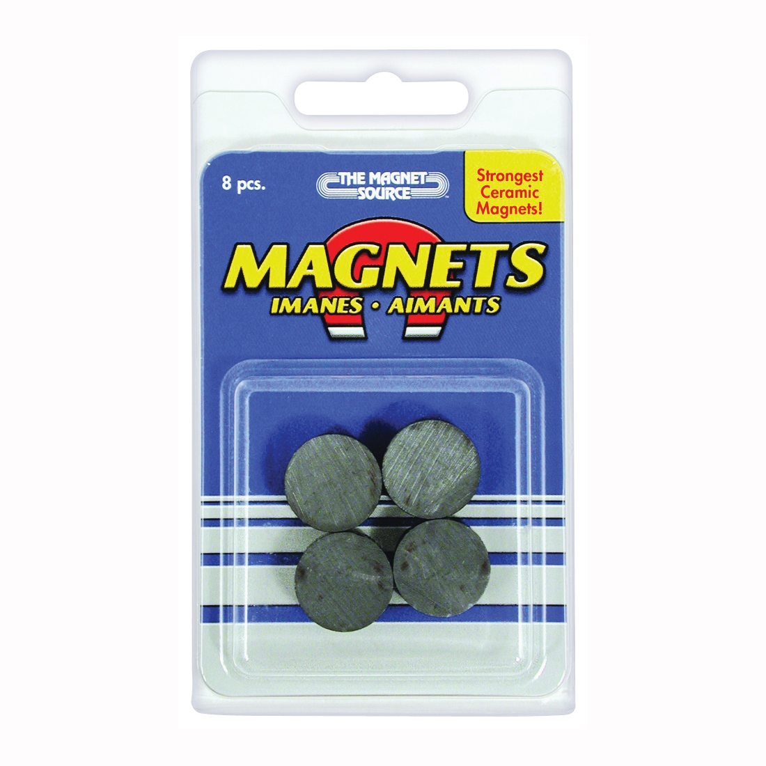 Picture of Magnet Source 07003 Magnetic Discs, 3/4 in Dia, Charcoal Gray, 8, Pack