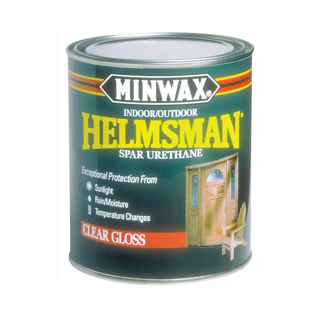Picture of Minwax Helmsman 63200444 Spar Urethane Paint, High-Gloss, Clear, Liquid, 1 qt, Can