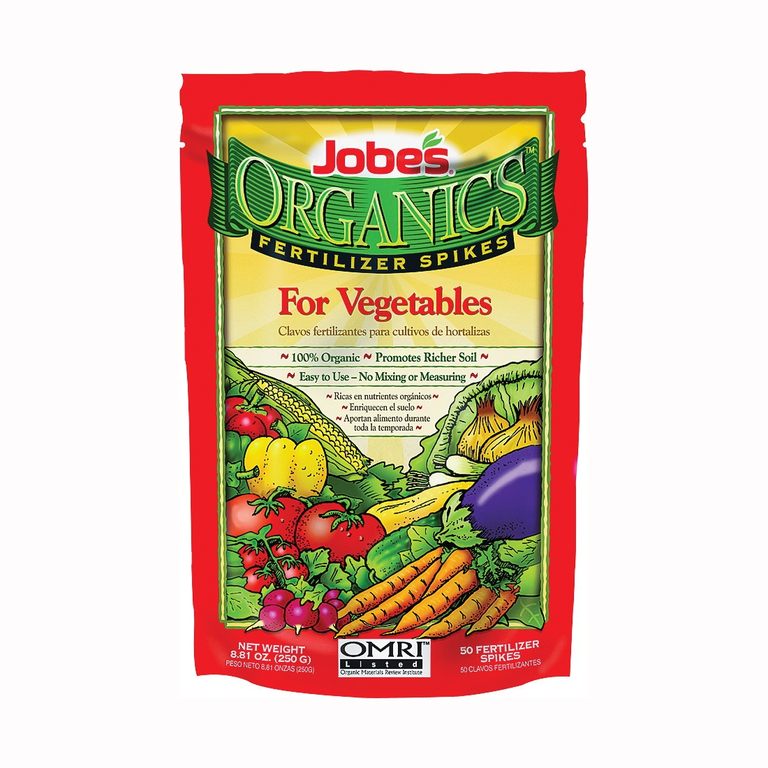 Picture of Jobes 6028 Fertilizer Spike Pack, Spike, Yellowish Brown, Organic, Pack